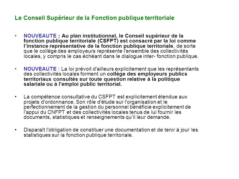 Le Conseil Supérieur de la Fonction publique territoriale