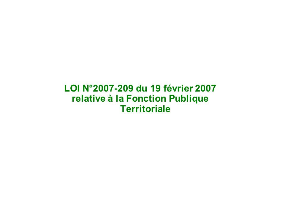 Séance d'actualité statutaire mars 2007