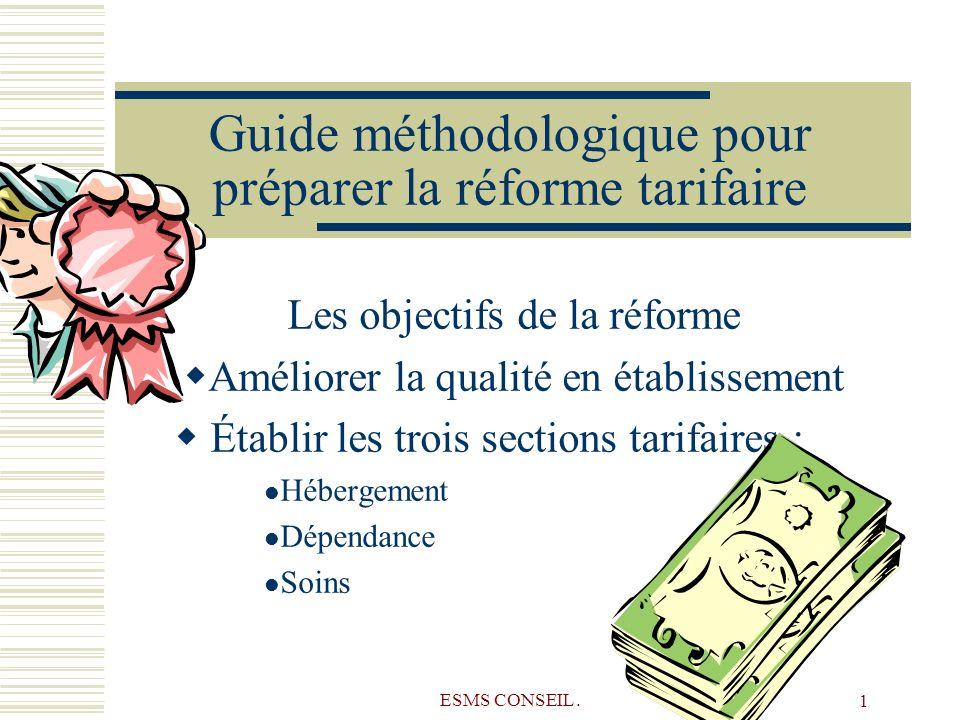Guide méthodologique pour préparer la réforme tarifaire