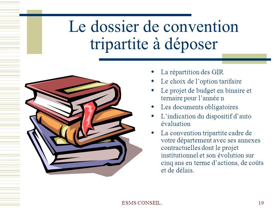 Le dossier de convention tripartite à déposer