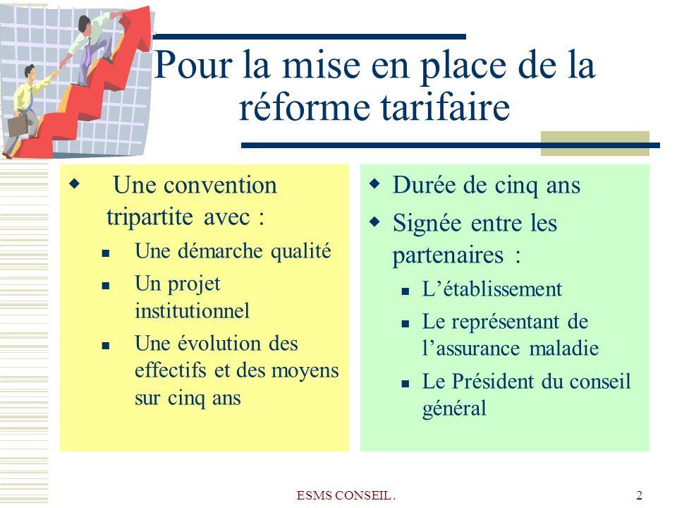 Pour la mise en place de la réforme tarifaire