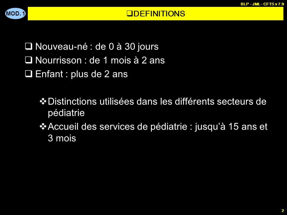 PEDIATRIE - Généralités pédiatriques