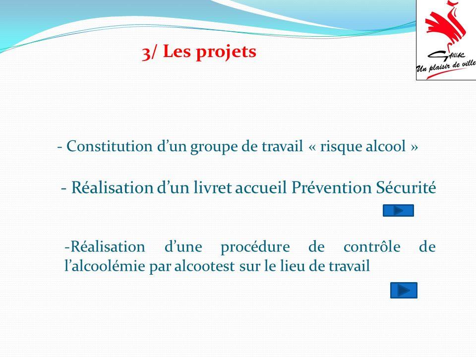 3/ Les projets - Réalisation d'un livret accueil Prévention Sécurité