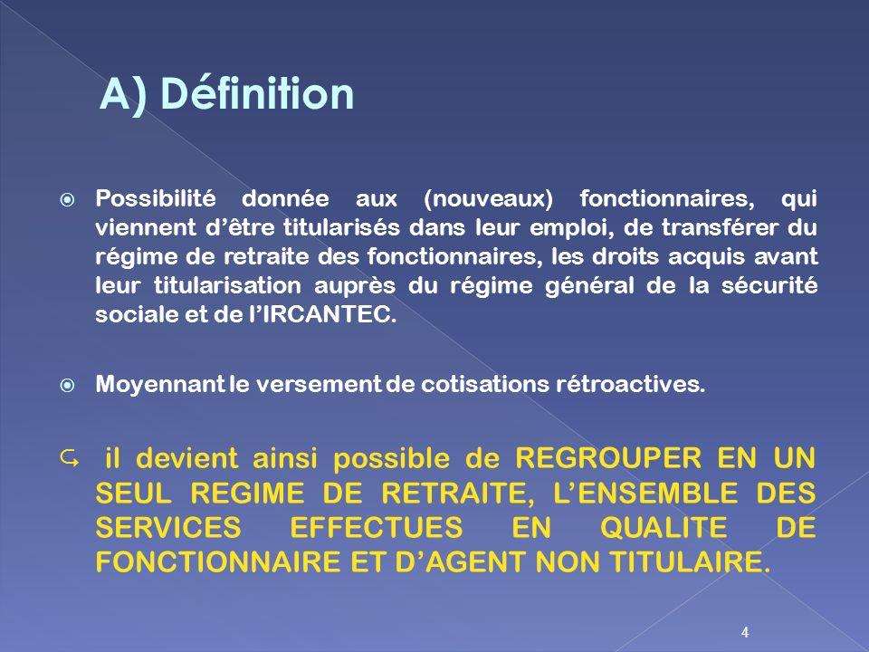 A) Définition