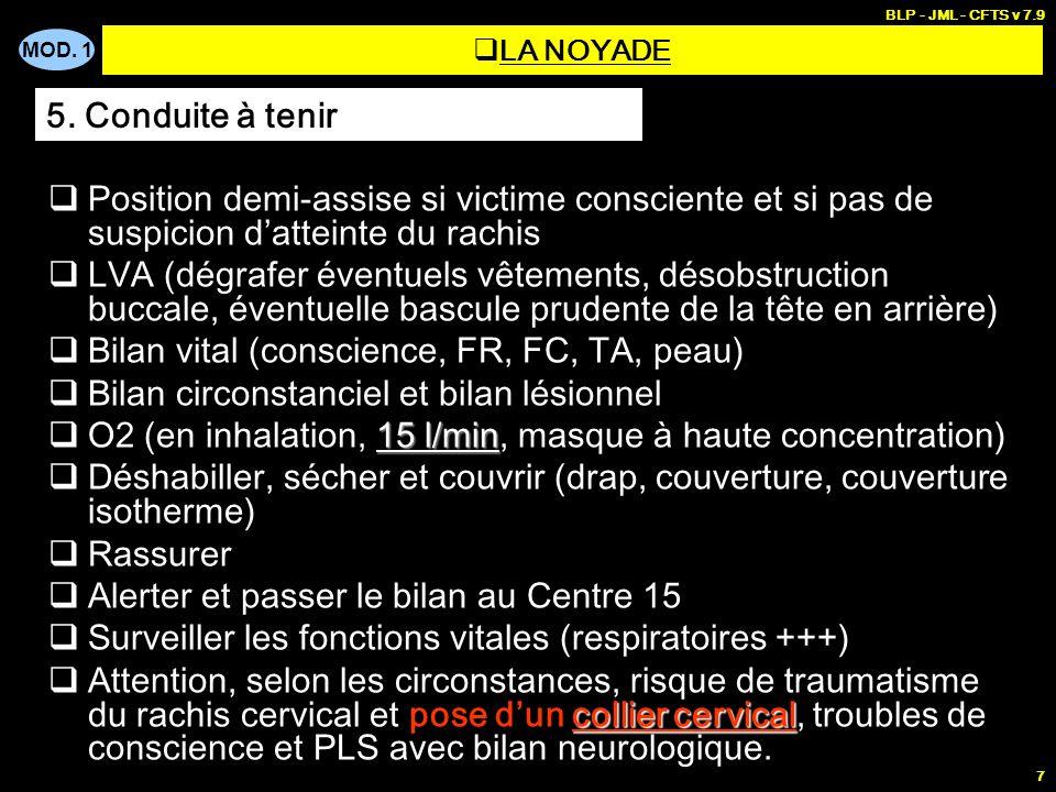 Bilan vital (conscience, FR, FC, TA, peau)