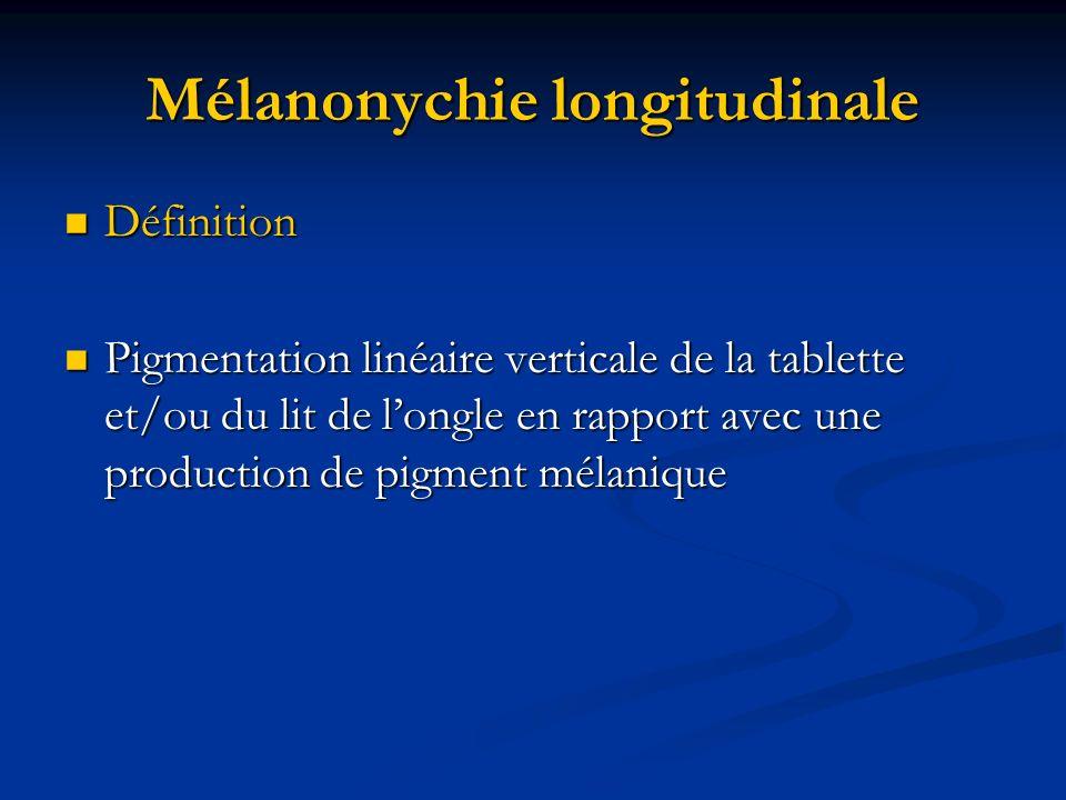Mélanonychie longitudinale