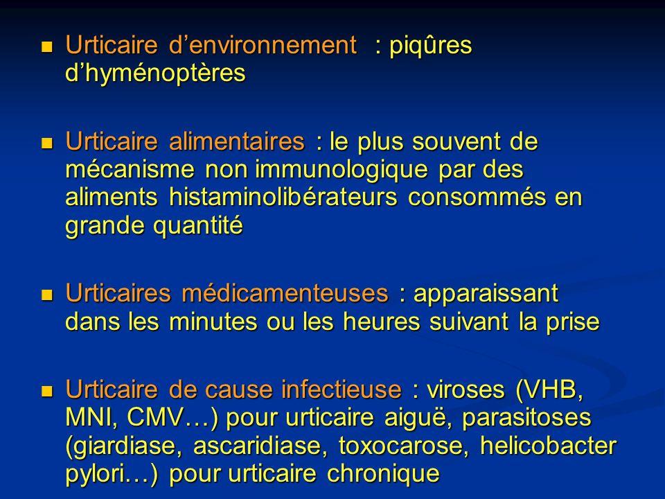 Urticaire d'environnement : piqûres d'hyménoptères