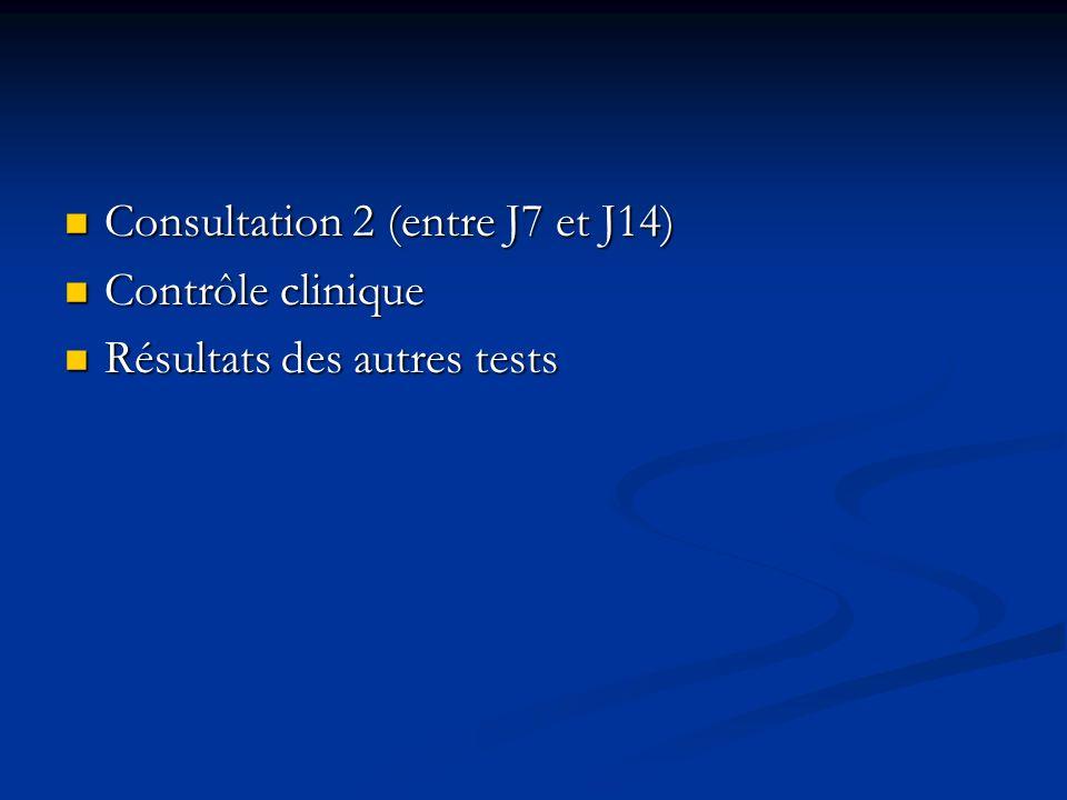 Consultation 2 (entre J7 et J14)