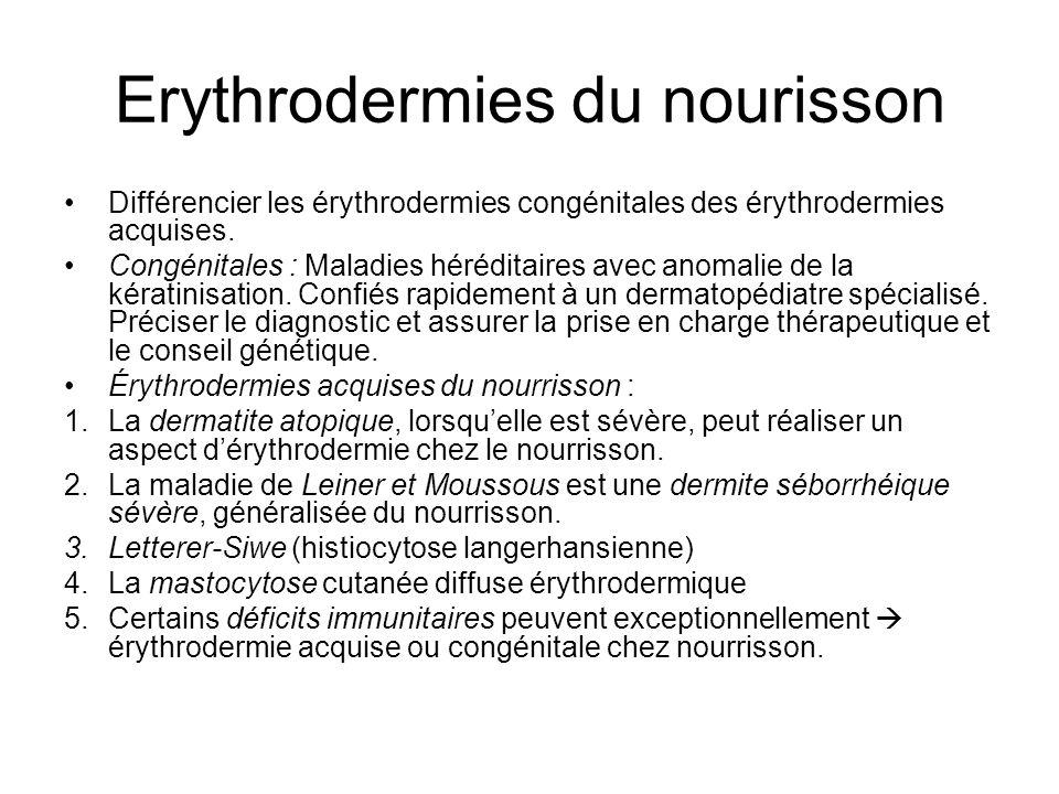 Erythrodermies du nourisson