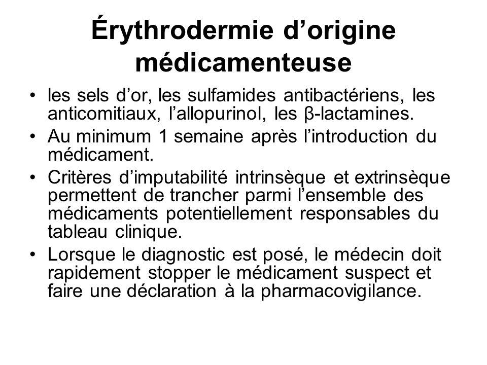 Érythrodermie d'origine médicamenteuse