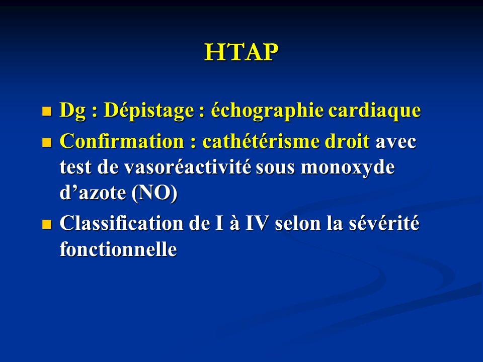 HTAP Dg : Dépistage : échographie cardiaque