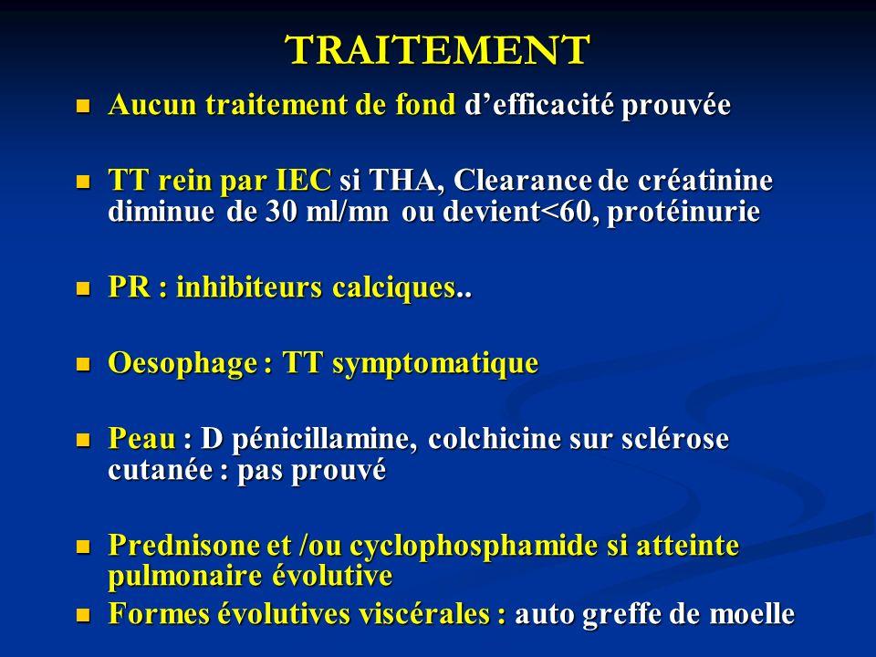 TRAITEMENT Aucun traitement de fond d'efficacité prouvée