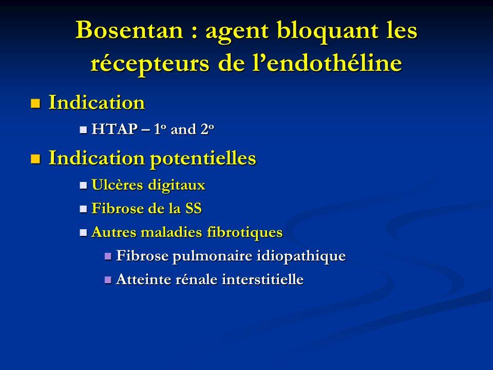 Bosentan : agent bloquant les récepteurs de l'endothéline