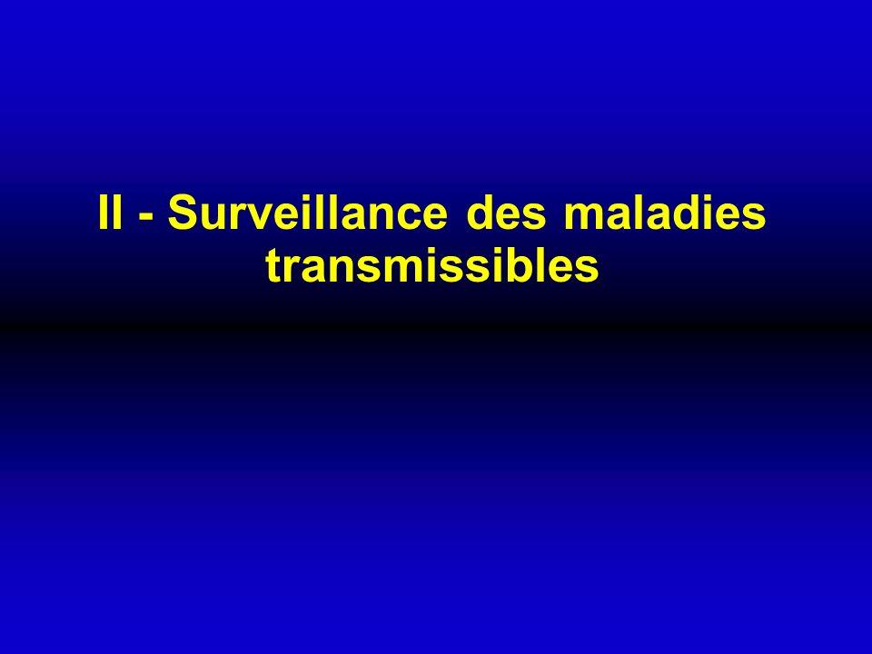II - Surveillance des maladies transmissibles