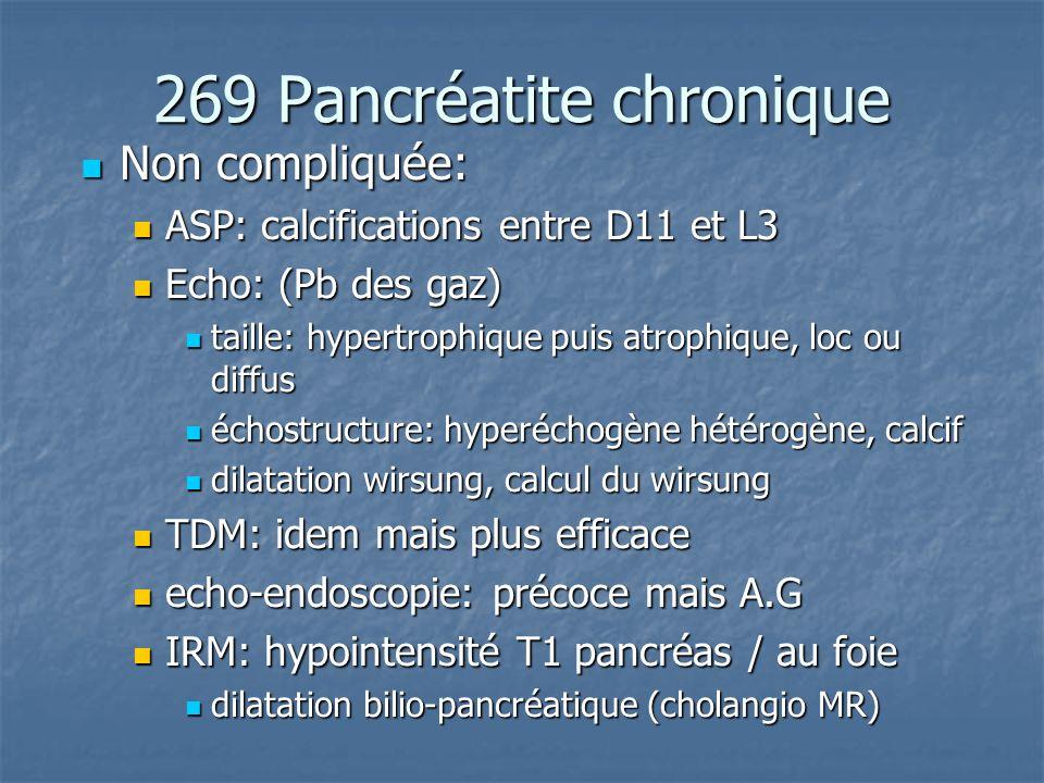 269 Pancréatite chronique