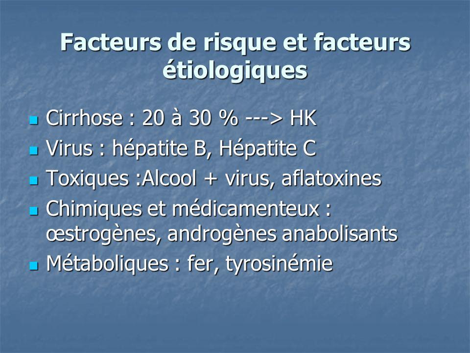 Facteurs de risque et facteurs étiologiques