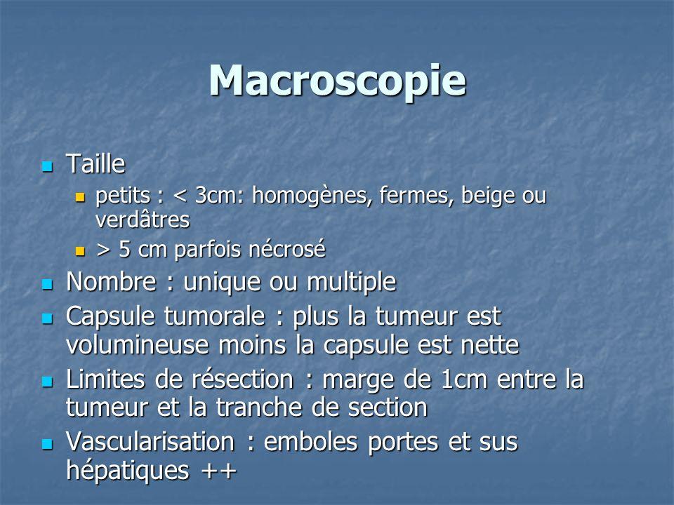 Macroscopie Taille Nombre : unique ou multiple