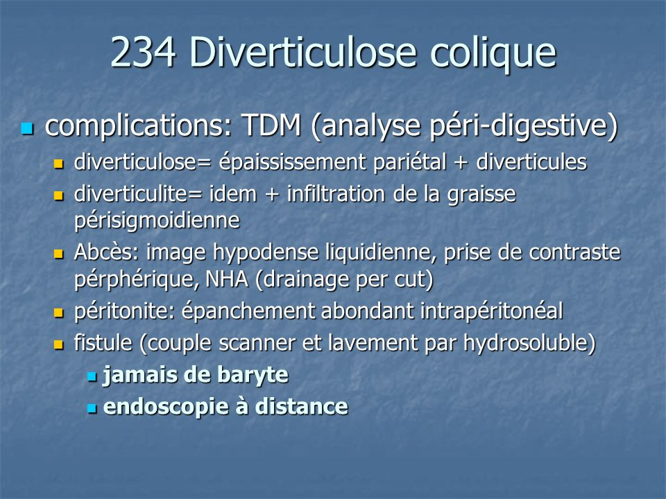 234 Diverticulose colique