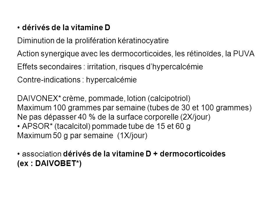 • dérivés de la vitamine D