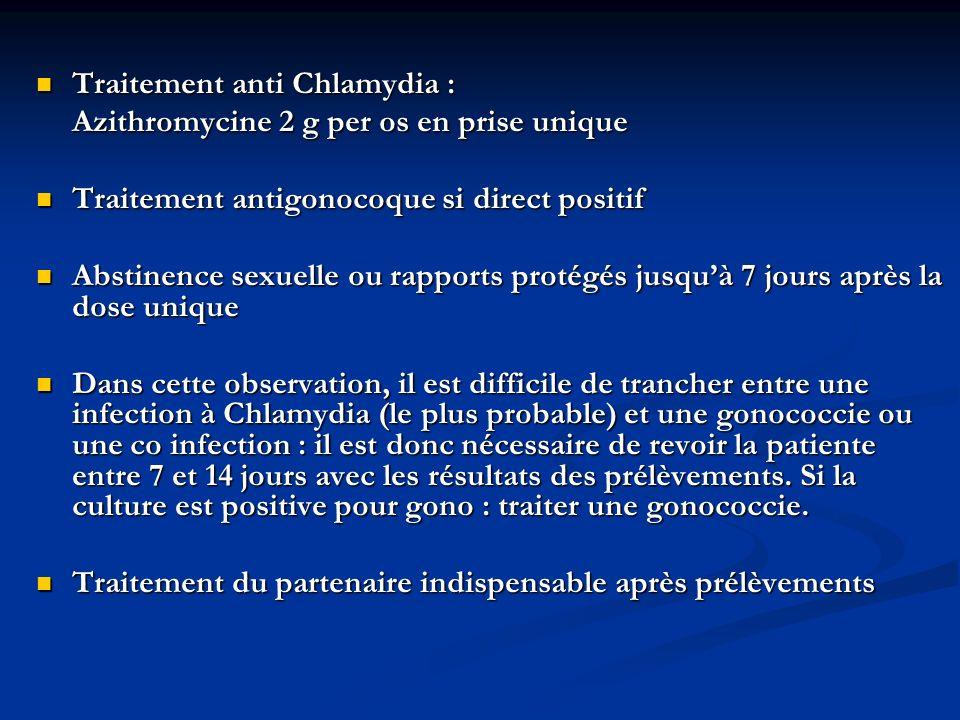 Traitement anti Chlamydia :