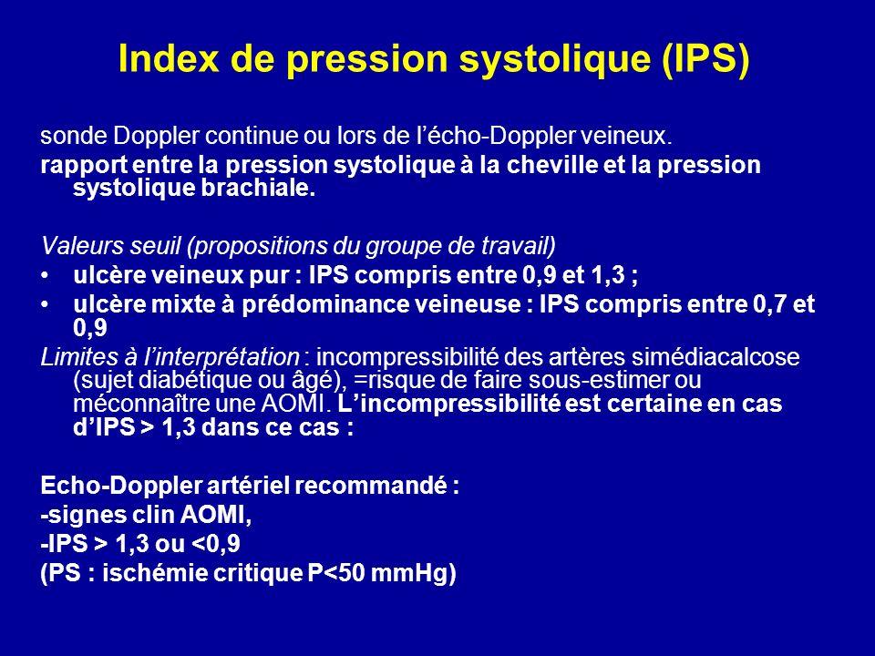 Index de pression systolique (IPS)