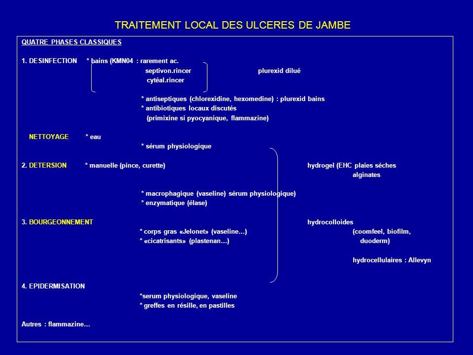 TRAITEMENT LOCAL DES ULCERES DE JAMBE