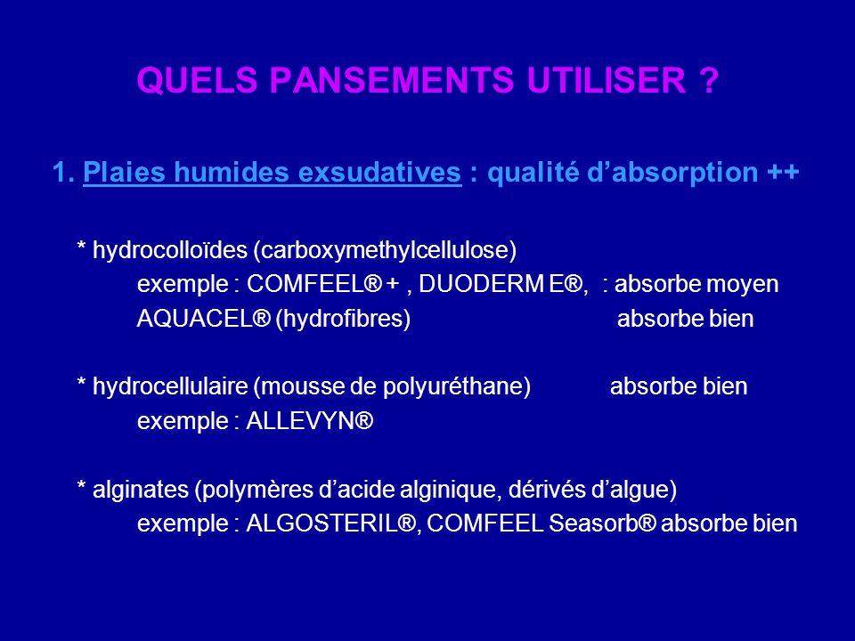 QUELS PANSEMENTS UTILISER