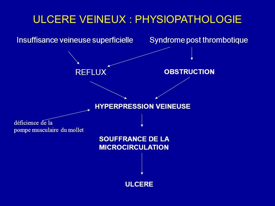 ULCERE VEINEUX : PHYSIOPATHOLOGIE