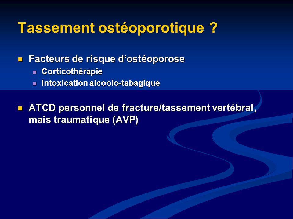 Tassement ostéoporotique