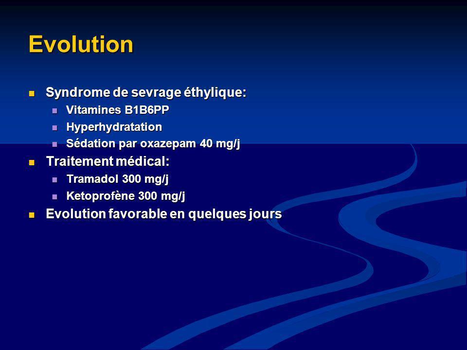 Evolution Syndrome de sevrage éthylique: Traitement médical: