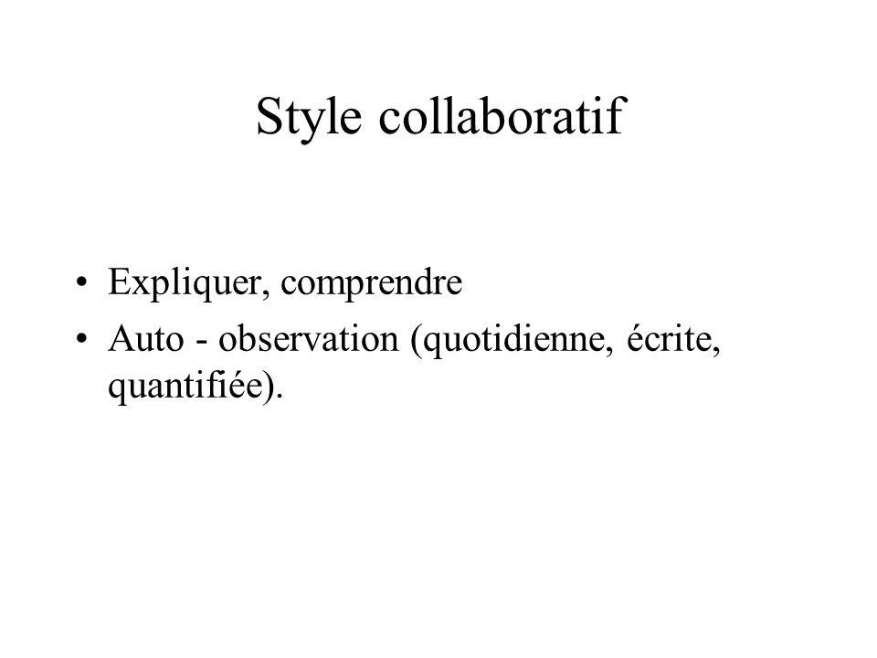 Style collaboratif Expliquer, comprendre