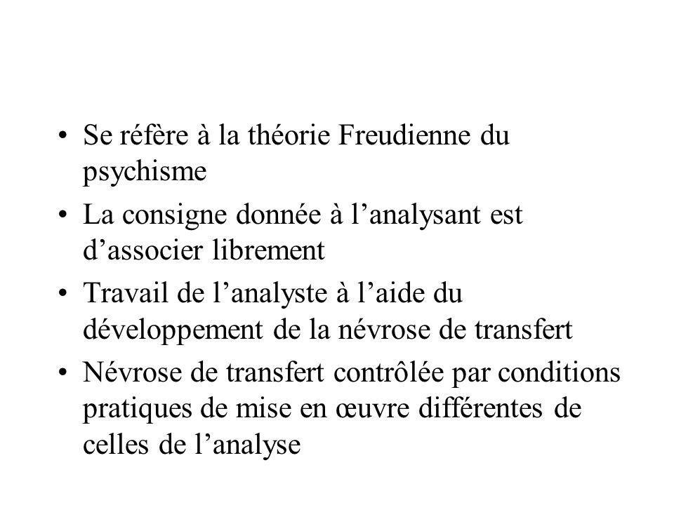 Se réfère à la théorie Freudienne du psychisme