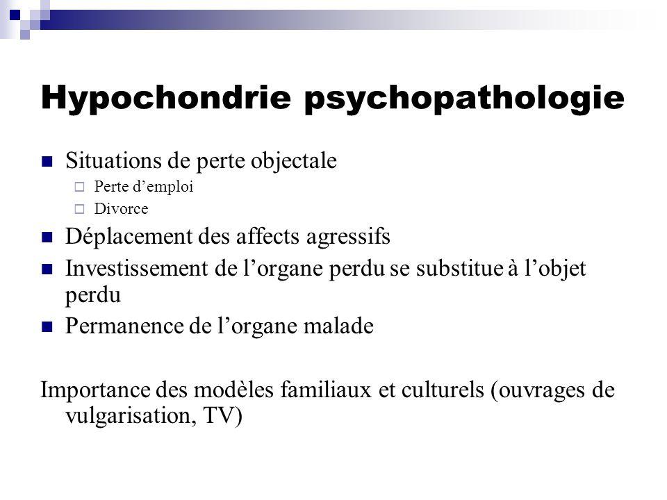 Hypochondrie psychopathologie