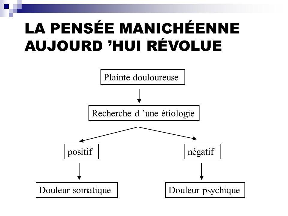 LA PENSÉE MANICHÉENNE AUJOURD 'HUI RÉVOLUE