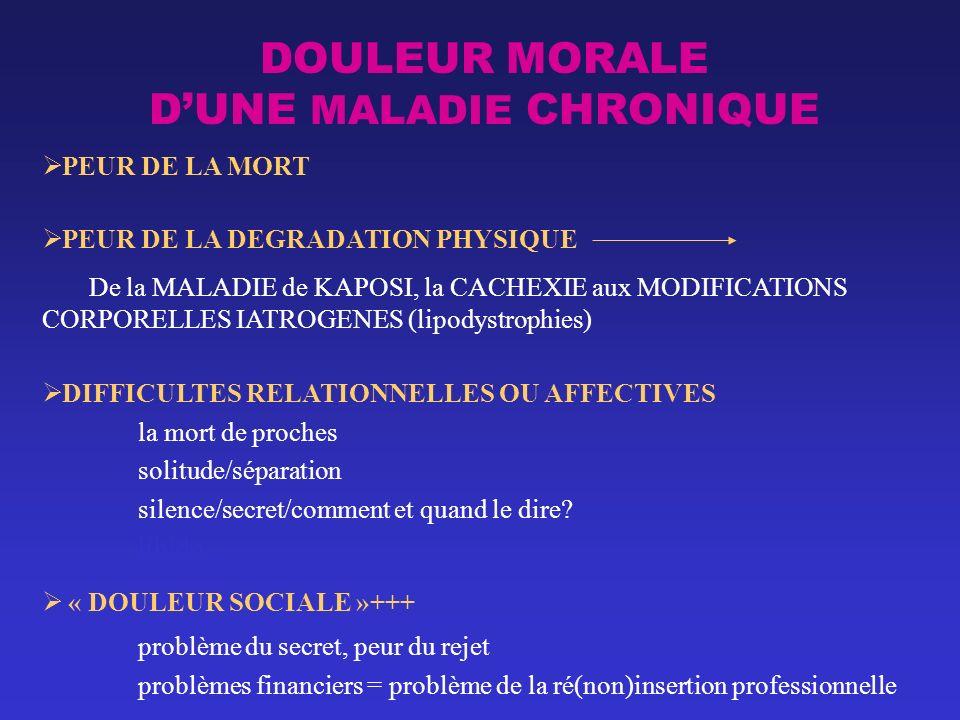 DOULEUR MORALE D'UNE MALADIE CHRONIQUE