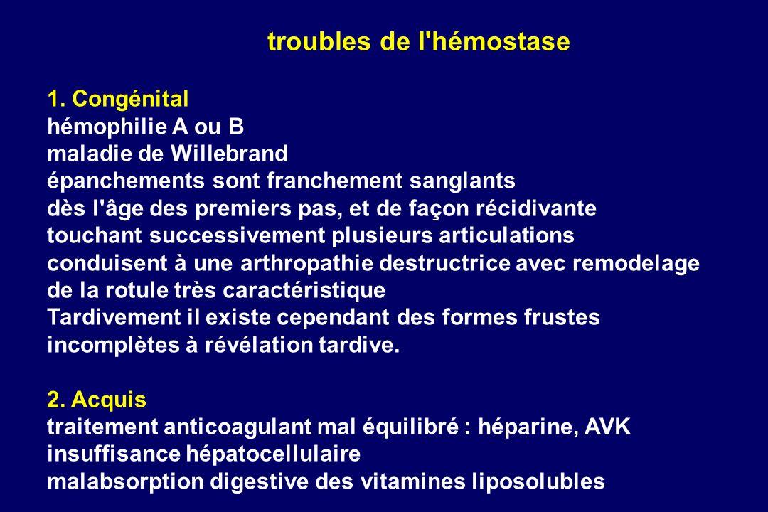 troubles de l hémostase