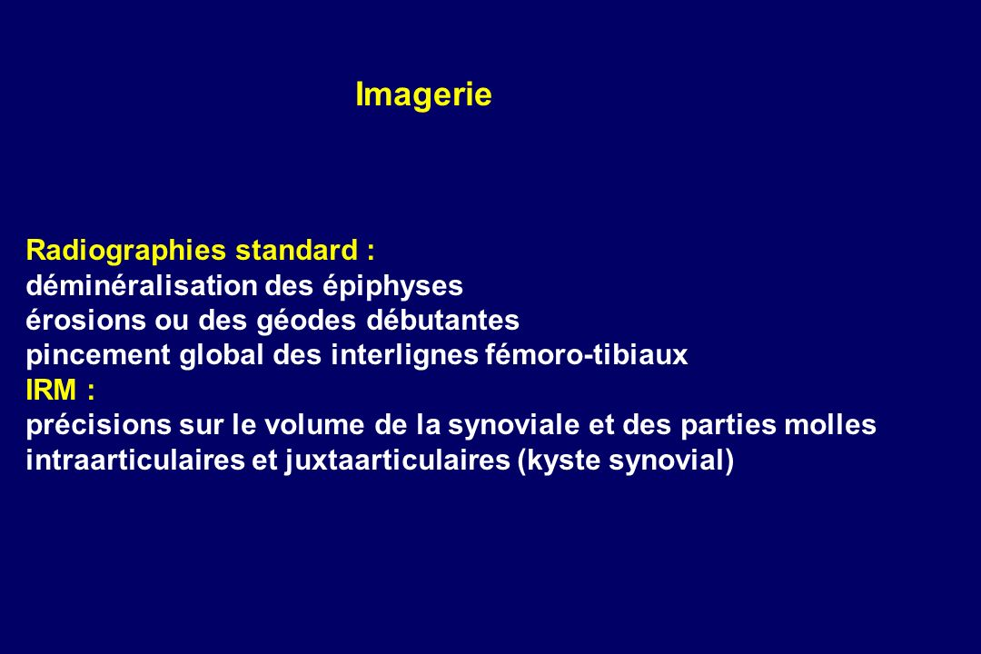 Imagerie Radiographies standard : déminéralisation des épiphyses
