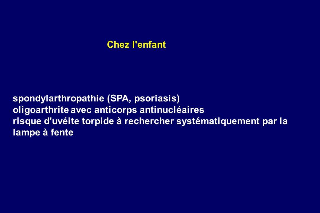 spondylarthropathie (SPA, psoriasis)
