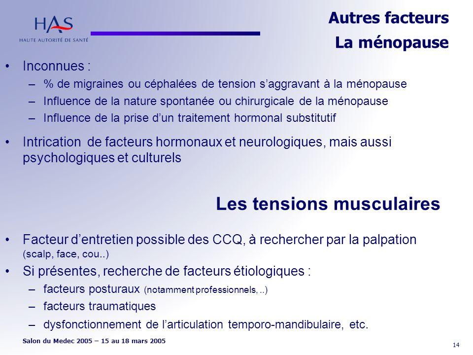 Autres facteurs La ménopause
