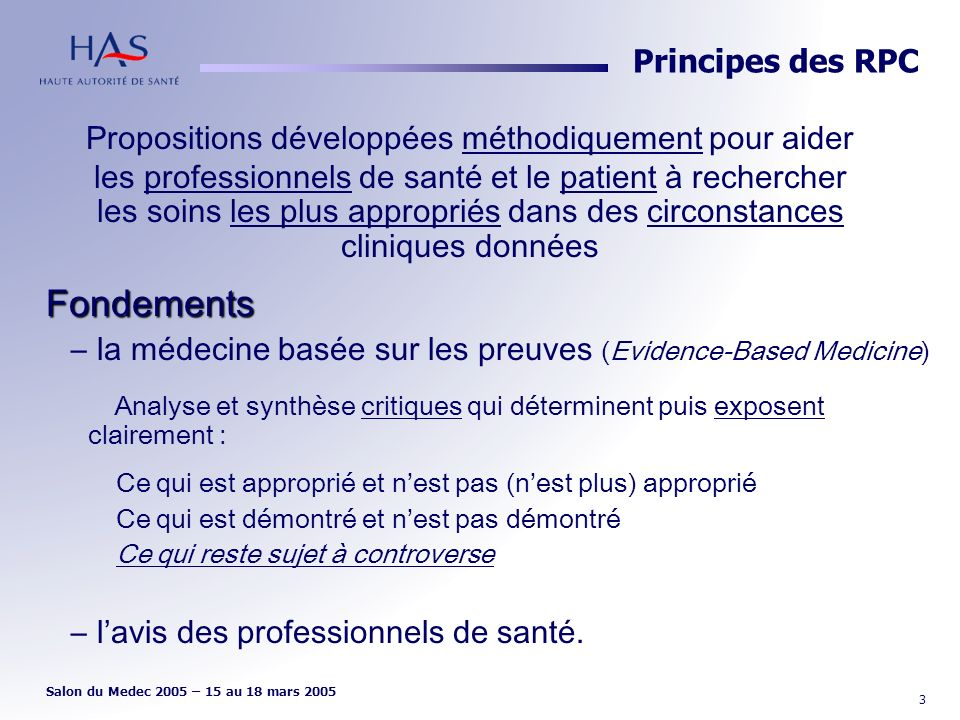 Principes des RPC