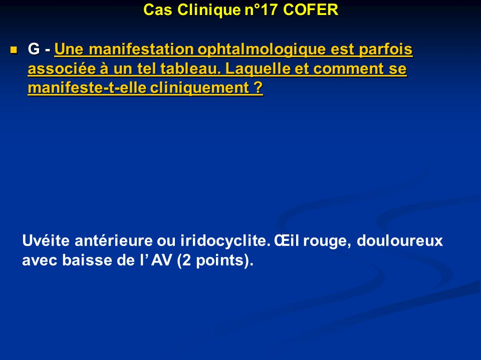 Cas Clinique n°17 COFER
