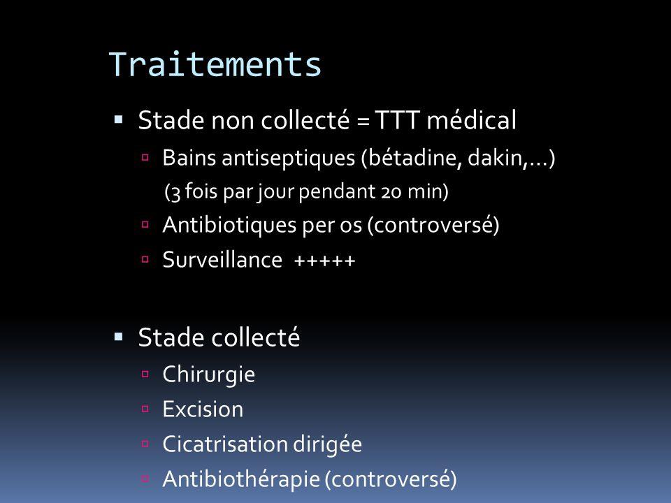 Traitements Stade non collecté = TTT médical Stade collecté