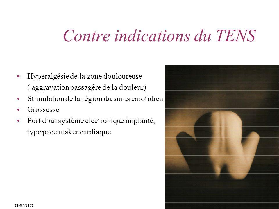 Contre indications du TENS