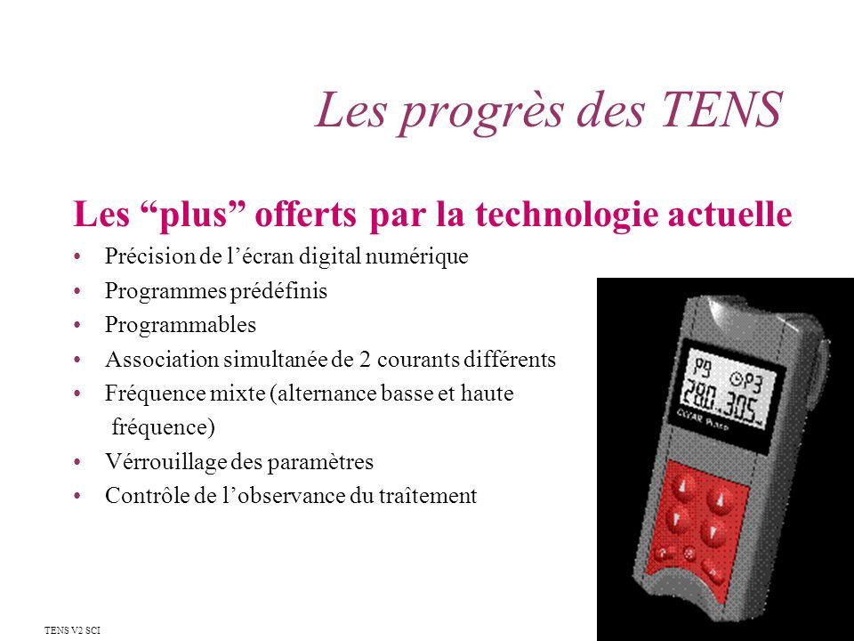 Les progrès des TENS Les plus offerts par la technologie actuelle
