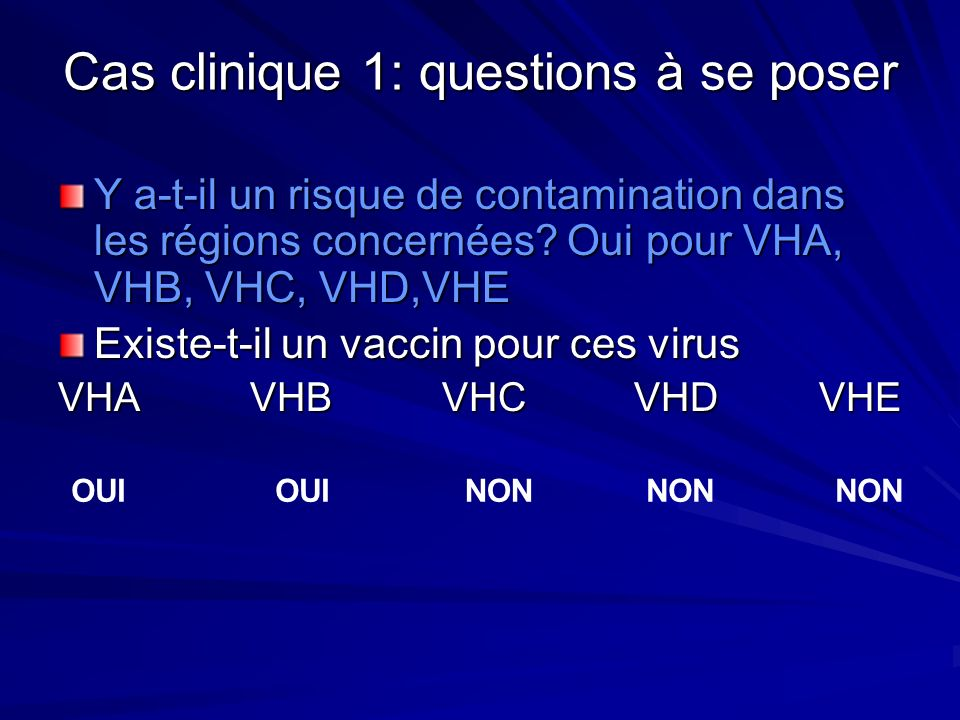 Cas clinique 1: questions à se poser