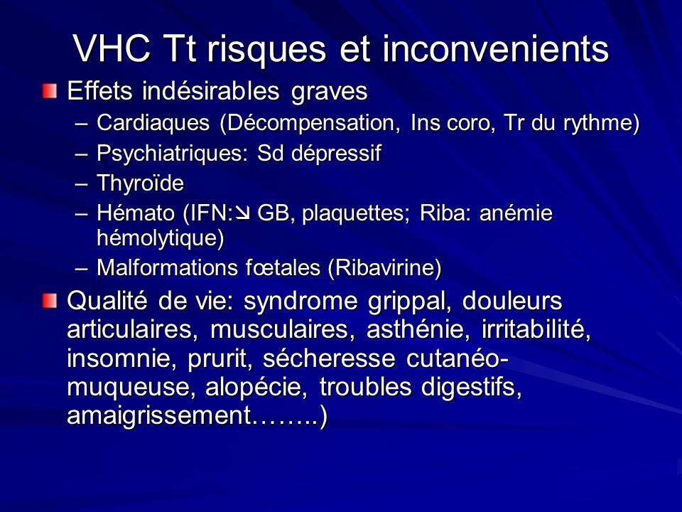VHC Tt risques et inconvenients