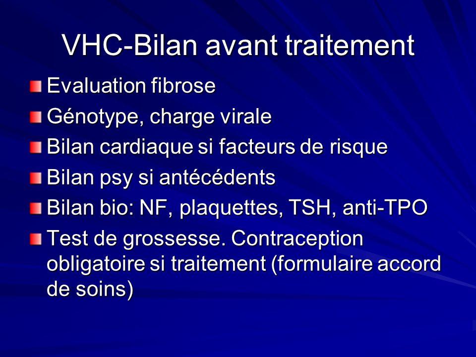 VHC-Bilan avant traitement