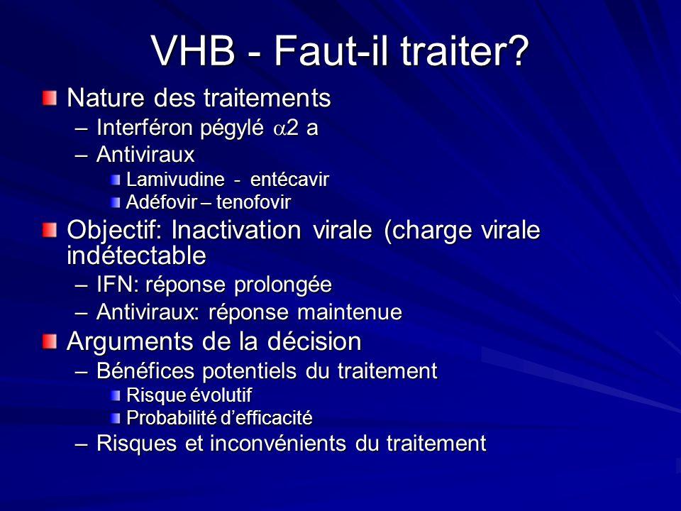 VHB - Faut-il traiter Nature des traitements