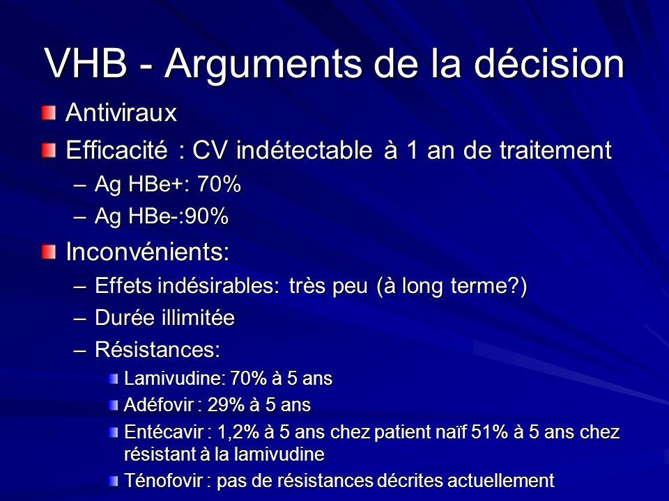 VHB - Arguments de la décision