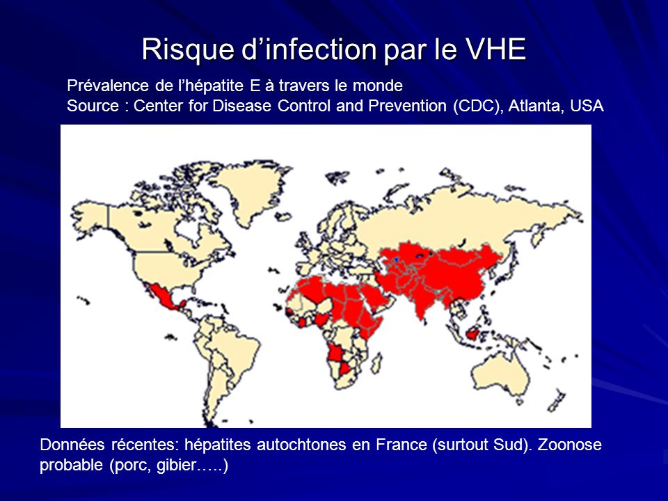 Risque d'infection par le VHE